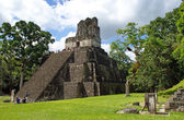 Temple of the Mask in Tikal — Stock Photo