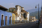 Street in Antigua, Guatemala — Stock Photo