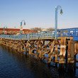 Stock Photo: Wooden bridge in Sheepshead Bay