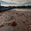 Sheepshead Bay after the Superstorm Sandy - Stock Photo