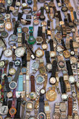 Clocks on the flee market — Stock Photo