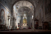 Catholic church interior — Stock Photo