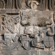 Wall of the Temple of the Feathered Serpent in Xochicalco — Stock Photo