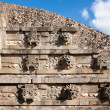 Stock Photo: Feathered Serpent Pyramid at Teotihuacan