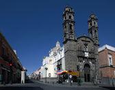 Kirche von san cristobal in puebla, mexiko — Stockfoto