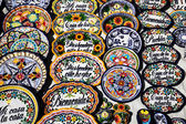 Mexican souvenirs on sale — Stock Photo