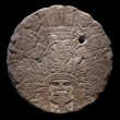 Stone altar disk to Tlaltecuhtli, Lord of the Earth. — Stock Photo