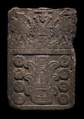 Antiga escultura em pedra maia — Foto Stock
