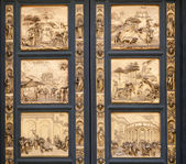 Fragmento de las puertas de la catedral del baptisterio de florencia — Foto de Stock
