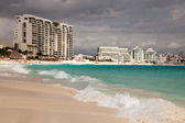 Cancun beach in Mexico — Stock Photo