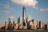 Freedom tower och world financial center — Stockfoto