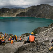 Quilotoa caldera — Stock Photo