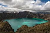 Quilotoa caldera — Stock fotografie