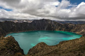Quilotoa caldera — Stock Photo