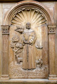 Dveře kostela pujili — Stock fotografie