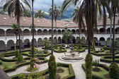 Courtyard of St. Francis Church and Convent — Stock Photo