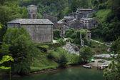 A vila medieval de isola santa localizado em garfagnana — Fotografia Stock