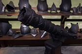 Medieval Genovese cannon and armor — Stock Photo
