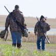 Father and son hunting — Stock Photo #21798105