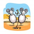 Singing sheep — Stock Vector