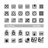 Icons, textile — Stock Vector