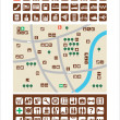 City maps, icons — Stock Vector #47343499