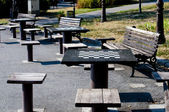 Chessmate tables — Stock Photo