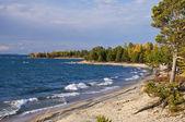 Sunny beach. Baikal. — Stock Photo