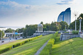 Volga embankment — Stock Photo