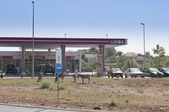 Lukoil oil station — Stock Photo