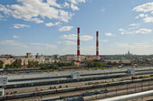 Power plant in Moscow — Stock Photo
