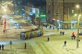 Snow street in Petrozavodsk — Stock Photo