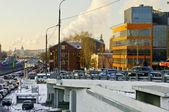 Traffic jam at Yauza embankment — Stock Photo