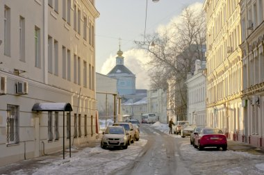 Moscow winter street