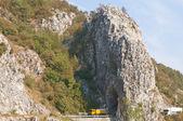 Mountain road tunnel — Stock Photo