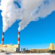 Moscow electricity plant in winter — Stock Photo #19317933