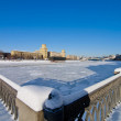 Moscow river embankment in winter — Stock Photo