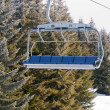 Stock fotografie: Ski lift with chairs