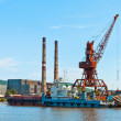 Docks of Nikolaevsk-na-Amure — Stock Photo