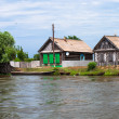 Villages on Volga — Stock Photo
