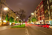 Kantstrasse at night — Stock Photo