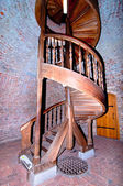 Spiral staircase in old tower — Stock Photo