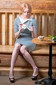 Girl rip letter — Stock Photo