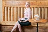 Blond student. — Stockfoto