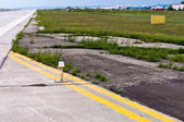 Airport runway edge lighting — Photo
