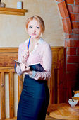Blond teacher — Stock Photo