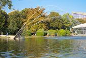 Gruga park pond — Stock Photo