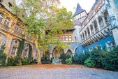 Vajdahunyad castle yard — Stock Photo