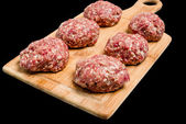 Raw beef cutlets — Stock Photo
