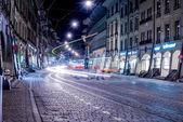 O eléctrico na rua — Fotografia Stock